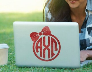 Alpha Chi Omega Bow Decal