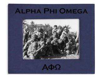 "Alpha Phi Omega 4"" x 6"" Leatherette Picture Frame"