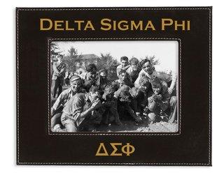 "Delta Sigma Phi 4"" x 6"" Leatherette Picture Frame"