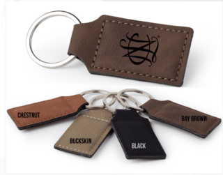 National Charity League Faux Leather Keychain