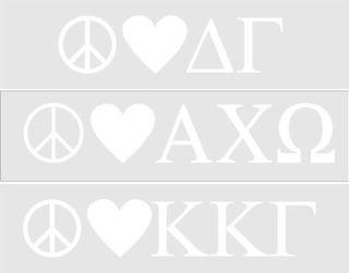 Peace & Love Sorority Sticker