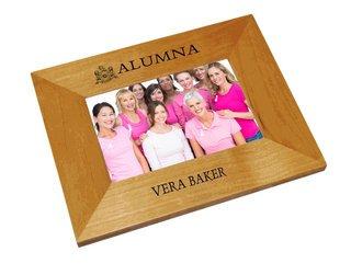 Phi Mu Alumna Crest - Shield Frame