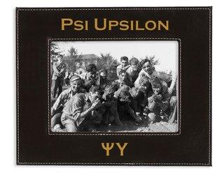 "Psi Upsilon 4"" x 6"" Leatherette Picture Frame"