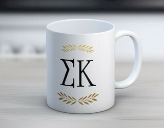 Sigma Kappa Wreath Coffee Mug