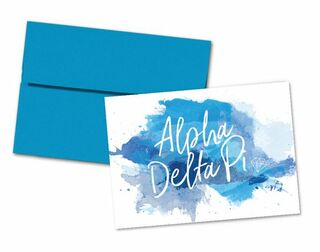 Alpha Delta Pi Watercolor Script Notecards(6)