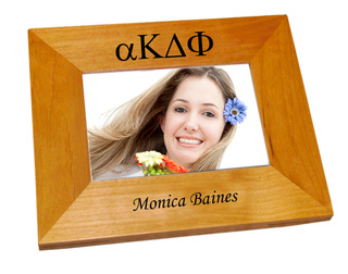 alpha Kappa Delta Phi Wood Picture Frame