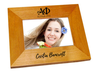 Alpha Phi Mascot Wood Picture Frame