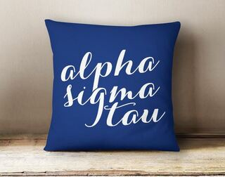 Alpha Sigma Tau Script Pillow