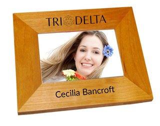 Delta Delta Delta Mascot Wood Picture Frame
