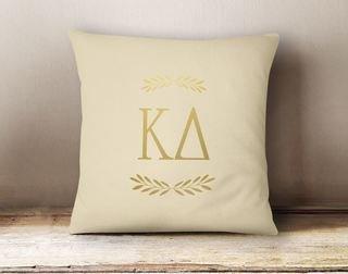 Kappa Delta Foil Letters Pillow