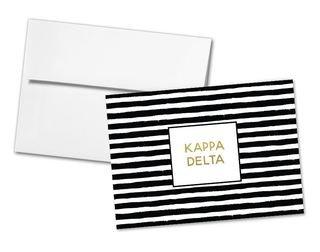 Kappa Delta Striped Notecards(6)