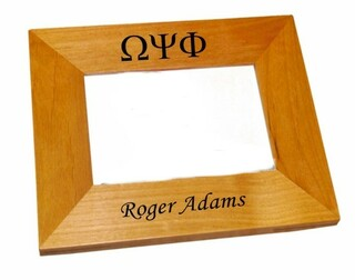 Omega Psi Phi Wood Picture Frame