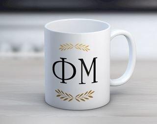 Phi Mu Letter Coffee Mug