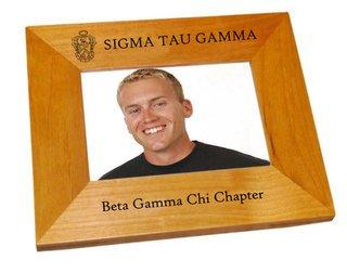 """Sigma Tau Gamma 4"""" x 6"""" Crest Picture Frame"""