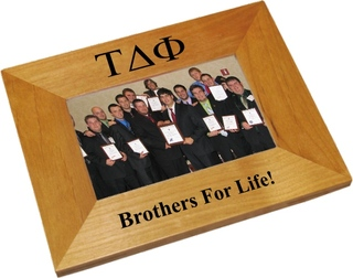 Tau Delta Phi Wood Picture Frame