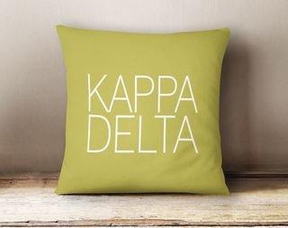 Kappa Delta Simple Pillow