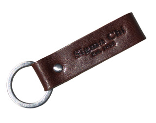 Leather Sigma Chi Strap  Keychain - Limted to 100