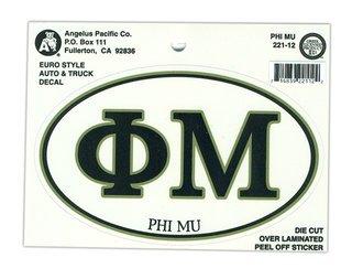 Phi Mu Euro Style Sticker