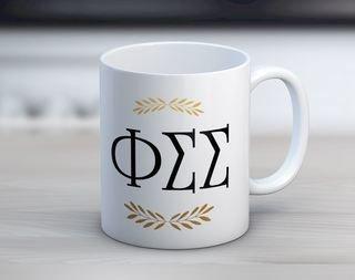 Phi Sigma Sigma Letter Coffee Mug