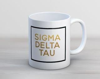 Sigma Delta Tau Faux Foil Coffee Mug