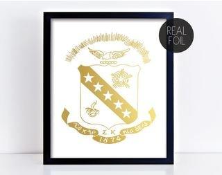 Sigma Kappa Crest - Shield Foil Print