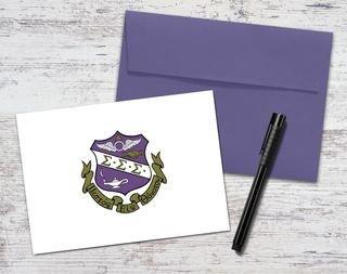 Sigma Sigma Sigma Color Crest - Shield Notecards(6)