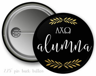 Alpha Chi Omega Alumna Button