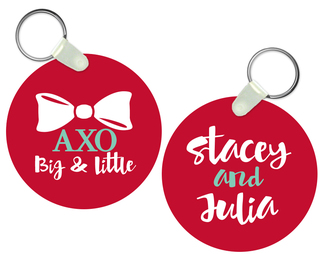 Alpha Chi Omega Big and Little Keychain