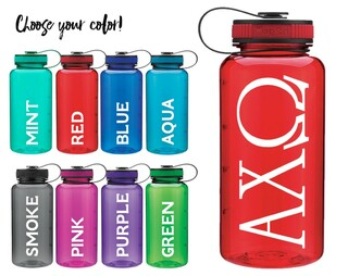 Alpha Chi Omega Classic Letters Water Bottle