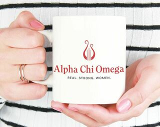Alpha Chi Omega Real Strong Women Coffee Mug