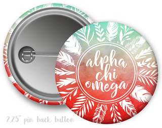 Alpha Chi Omega Feathers Button