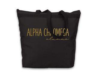 Alpha Chi Omega Gold Foil Alumna Tote