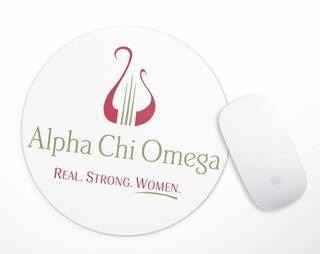 Alpha Chi Omega Real Strong Women Mousepad