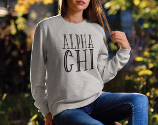 Alpha Chi Omega Inline Sweatshirt