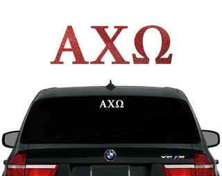 Alpha Chi Omega Letters Decal
