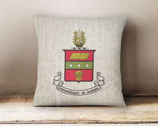 Alpha Chi Omega Linen Crest - Shield Pillow
