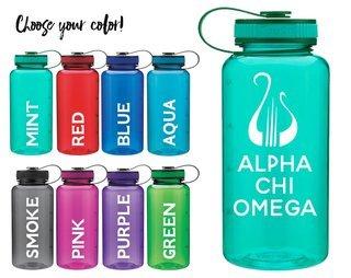 Alpha Chi Omega Lyre Water Bottle
