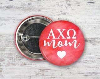 Alpha Chi Omega Mom Button