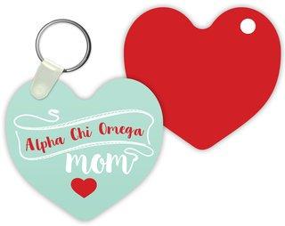 Alpha Chi Omega Mom Keychain