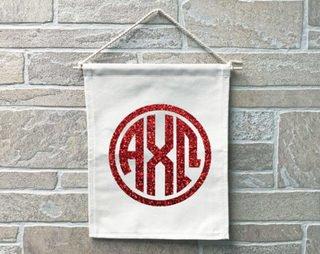 Alpha Chi Omega Monogram Banner