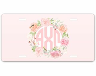 Alpha Chi Omega Monogram License Plate