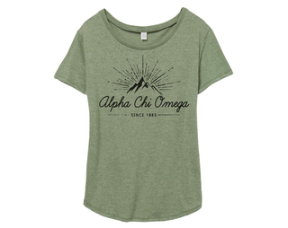 Alpha Chi Omega Mountain Backstage Tee