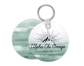 Alpha Chi Omega Mountain Key Chain