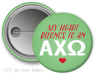 Alpha Chi Omega My Heart Belongs to a Button