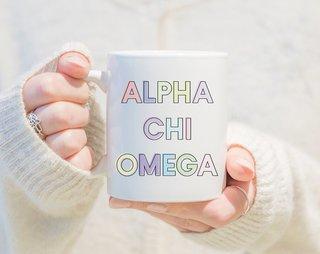 Alpha Chi Omega Pastel Mug