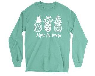 Alpha Chi Omega Pineapple Long Sleeve