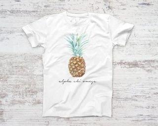 Alpha Chi Omega Pineapple Script Tee