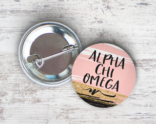 Alpha Chi Omega Rose Gold Button