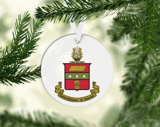 Alpha Chi Omega Round Acrylic Crest - Shield Ornament