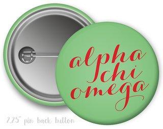 Alpha Chi Omega Script Button
